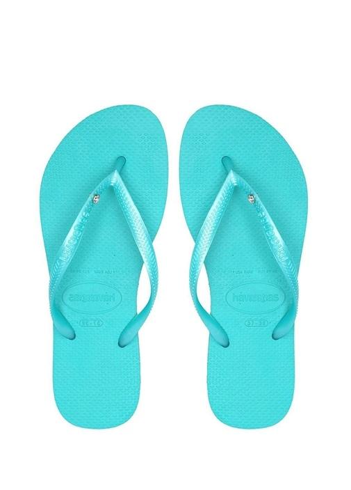 Havaianas Yeşil KADIN  Slim Crystal Kadın Plaj Terliği 256495 Beymen
