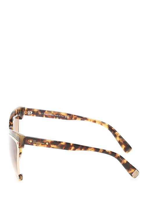 Kahverengi Desenli Çerçeveli Kadın Güneş Gözlüğü