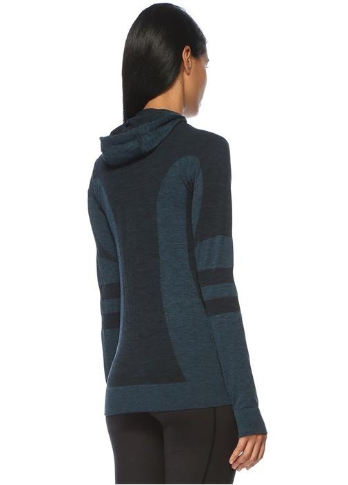 Oslo Lacivert Şerit Detaylı Kapüşonlu Sweatshirt