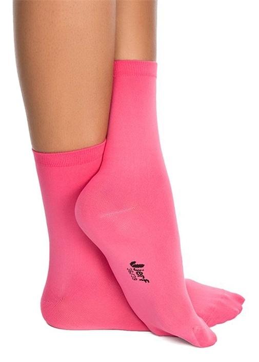 Pembe Logolu Kadın Çorap