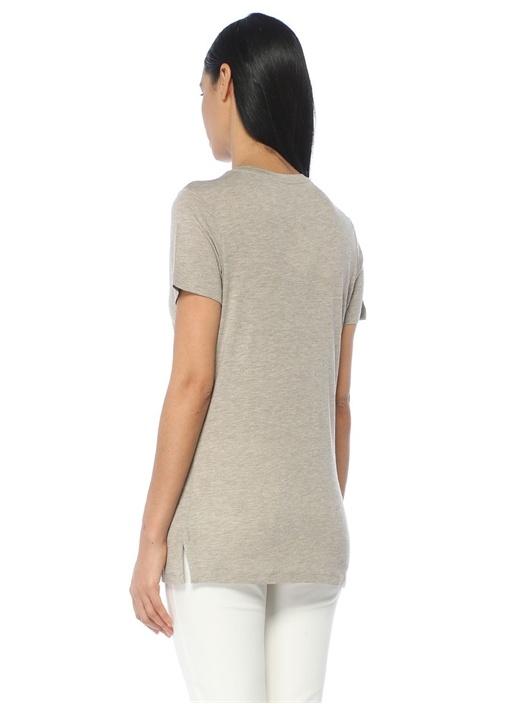 Bej Melanj V Yaka Simli T-shirt