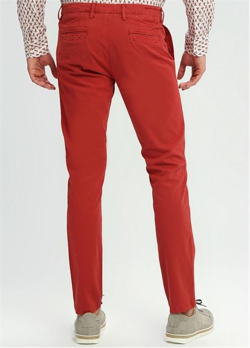 Slim Fit Kırmızı Normal Bel Dar Paça Spor Pantolon