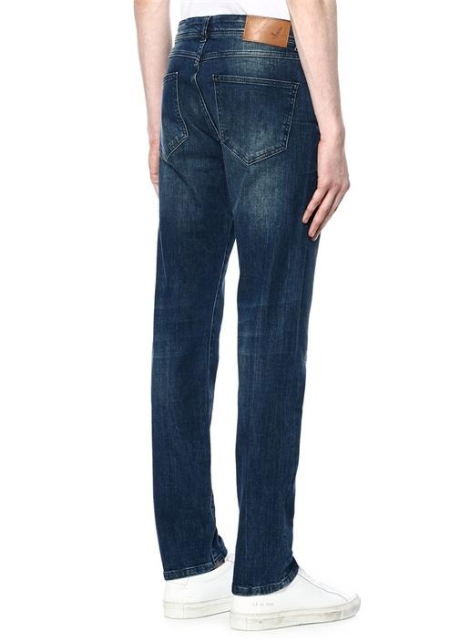 Orta Yıkamalı Slim Fit Jean Pantolon
