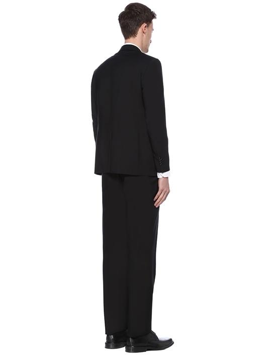 Drop 4 Siyah Stretch Yün Takım Elbise