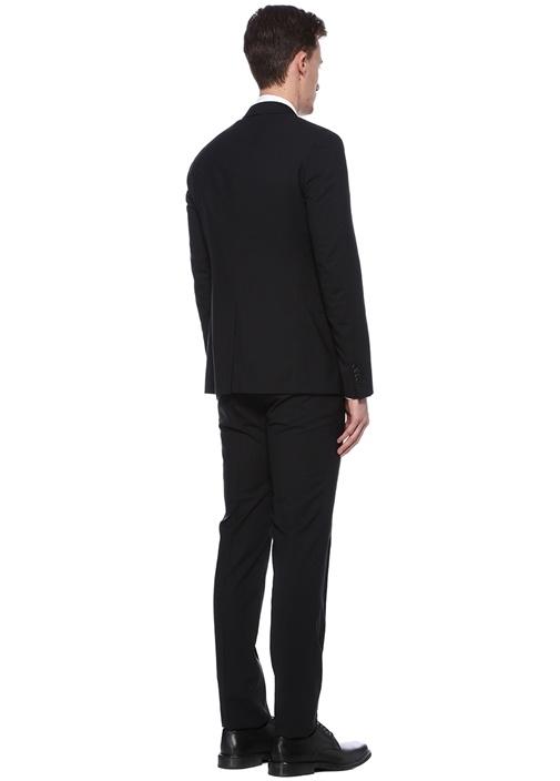 Drop 8 Non İron Siyah Yün Takım Elbise