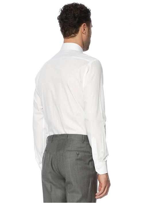 Mavi Klasik Yaka Custom Fit Gömlek