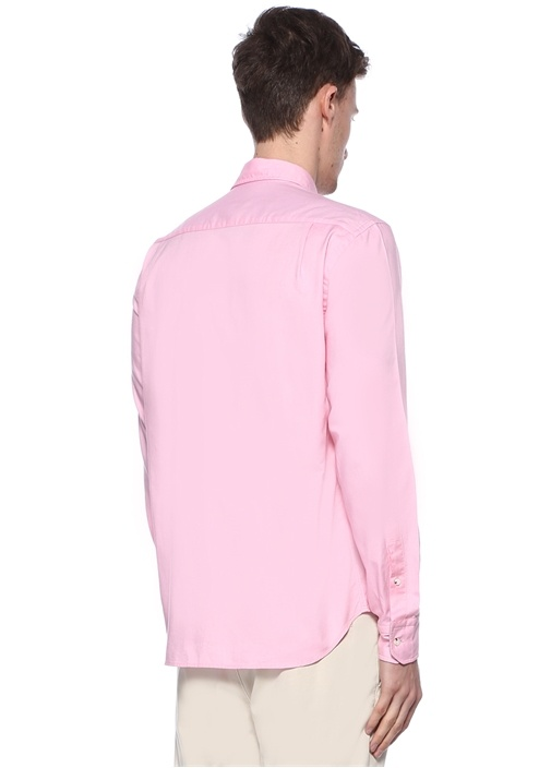 Comford Fit Pembe Logolu Oxford Gömlek