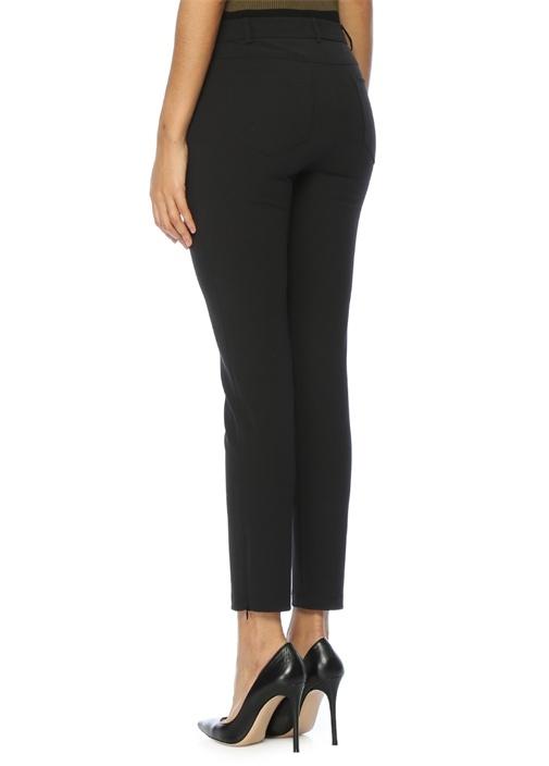 Siyah Normal Bel Streç Pantolon