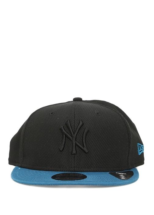 Siyah Mavi Logolu Erkek Şapka