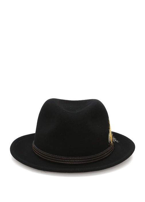 Siyah Bantlı Erkek Yün Şapka