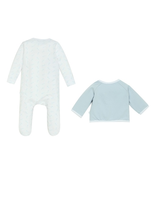 5li Organik Pamuklu Erkek Bebek Hediye Seti