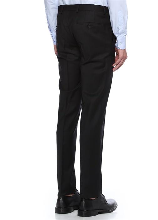 Siyah Klasik İnce Yünlü Pantolon
