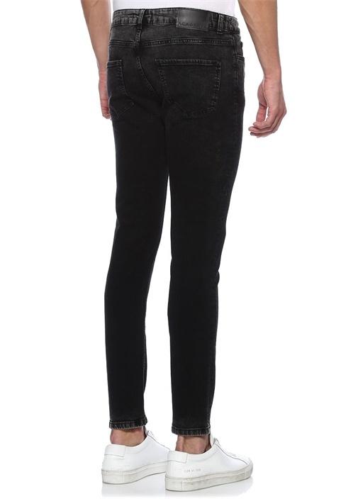 Siyah Casual Eskitme Detaylı Jean Pantolon