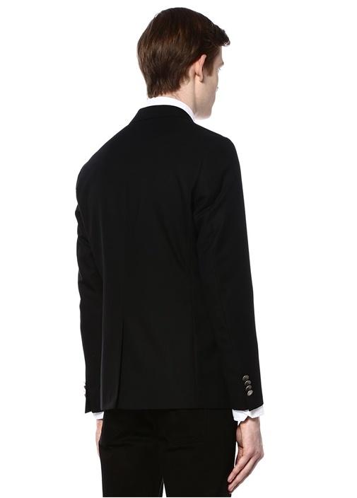 Siyah Dokulu Blazer