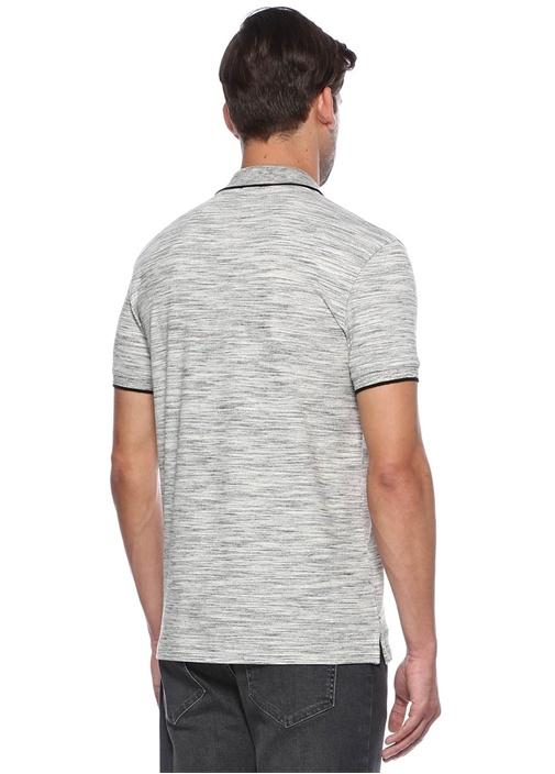 Siyah-Beyaz Slim Fit Polo Yaka Tshirt