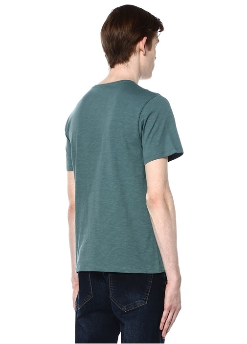 Yeşil Bisiklet Yaka Tshirt