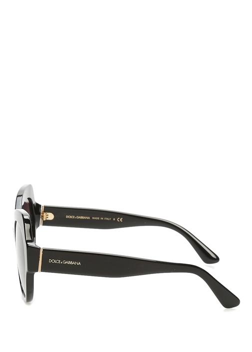 Siyah Yuvarlak Formlu Kadın Güneş Gözlüğü