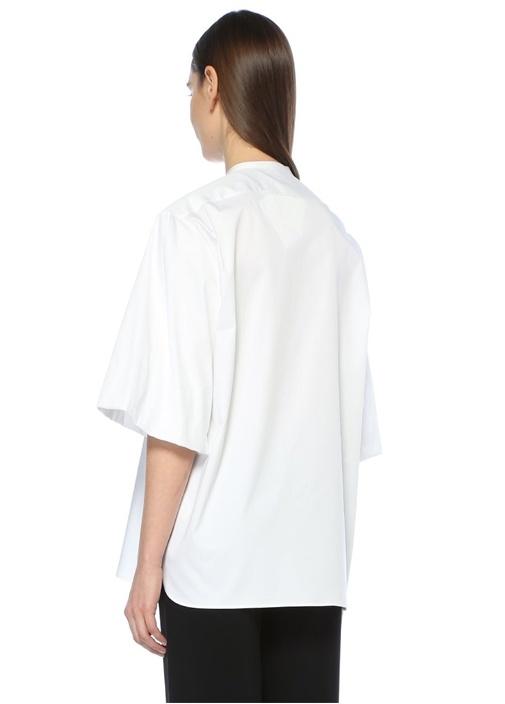 Raul Beyaz Streç Poplin Gömlek