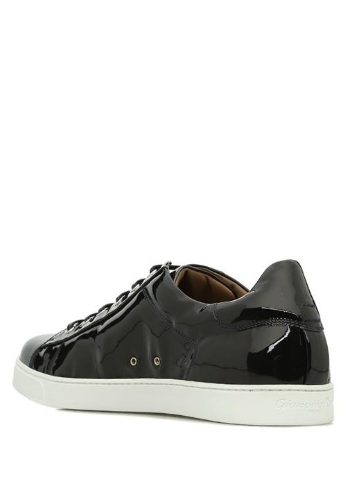 Low Top Deri Lacivert Erkek Sneaker
