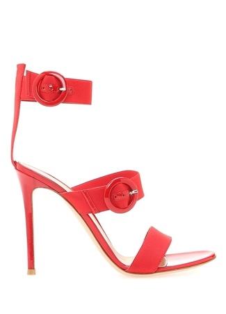 Gianvito Rossi Kadın RYA Kırmızı Kemer Kapatmalı opuklu Sandalet 39 R