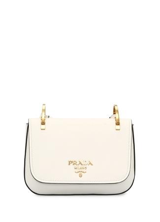Prada Kadın Beyaz Renkli Omuz Askılı Deri Çanta Ürün Resmi