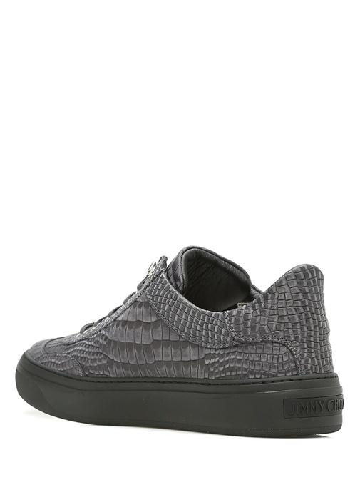 Ace Gri Deri Erkek Sneaker