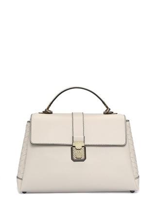 Bottega Veneta Kadın Piazza Ekru Deri Çanta Beyaz Ürün Resmi