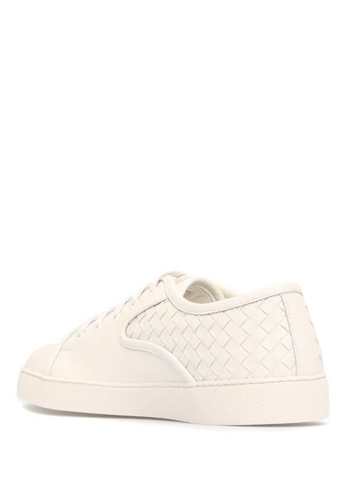 Intrecciato Nappa Dodger Deri Beyaz Erkek Sneaker