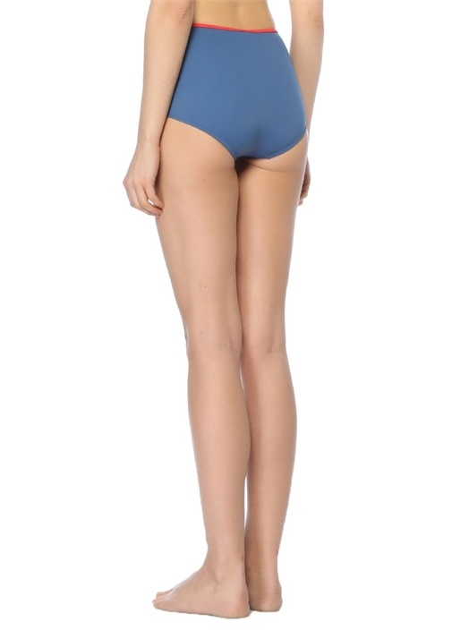 Brigitte Mavi Yüksek Bel Bikini Altı