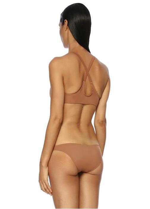The Fiona Kahverengi Önü Bağlı Bikini Üstü