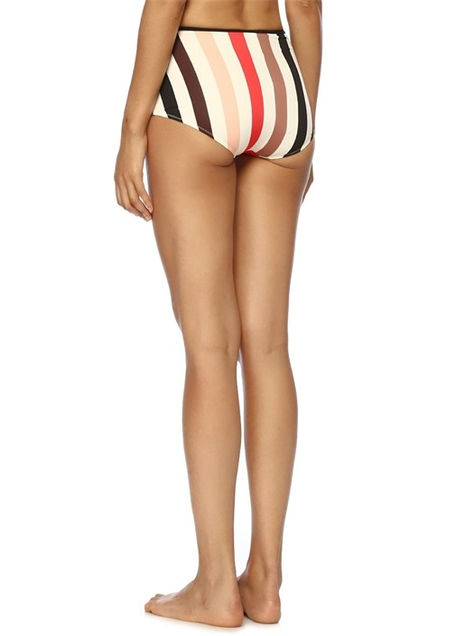 The Brigitte Çizgili Yüksek Bel Bikini Altı