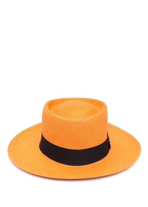 Turuncu Kadın Hasır Şapka