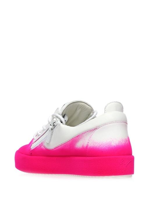May London Pembe-Beyaz Deri Kadın Sneaker