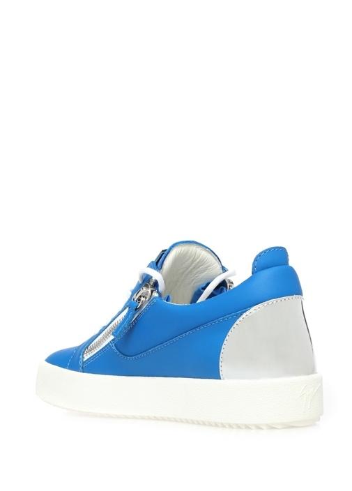 Nicki Mavi Deri Kadın Sneaker