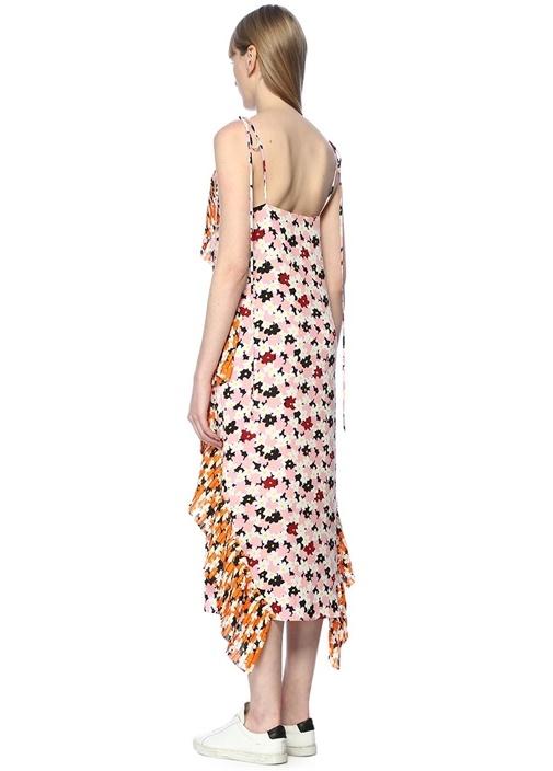Jackie Çiçek Baskılı Midi Elbise
