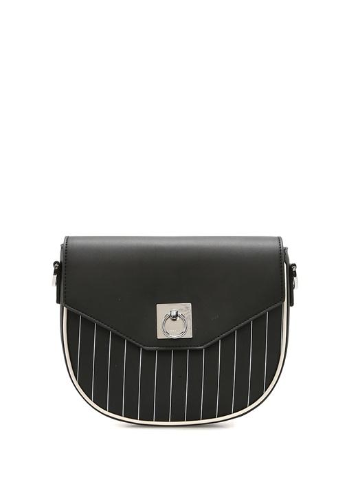 Fae Siyah Çizgili Kadın Çanta