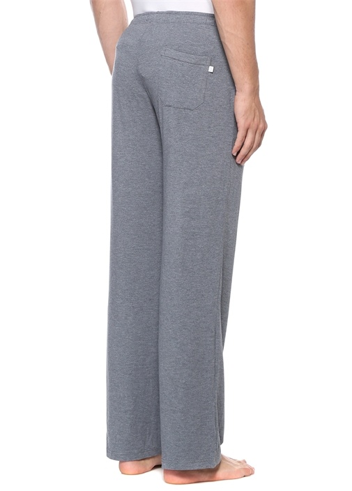 Gri Normal Bel Bol Paça Pijama Altı