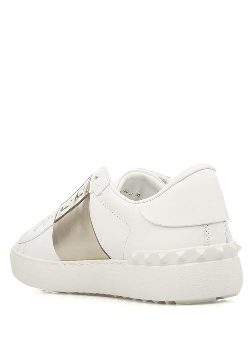 Valentino Garavani Beyaz Gold Open Kadin Sneaker