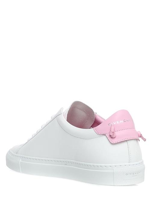 Pembe Beyaz Deri Kadın Sneaker