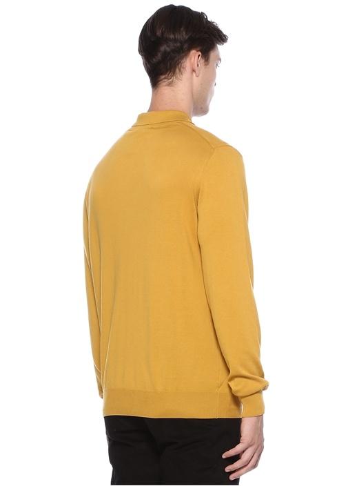 Hardal Polo Yaka Uzun Kollu T-shirt