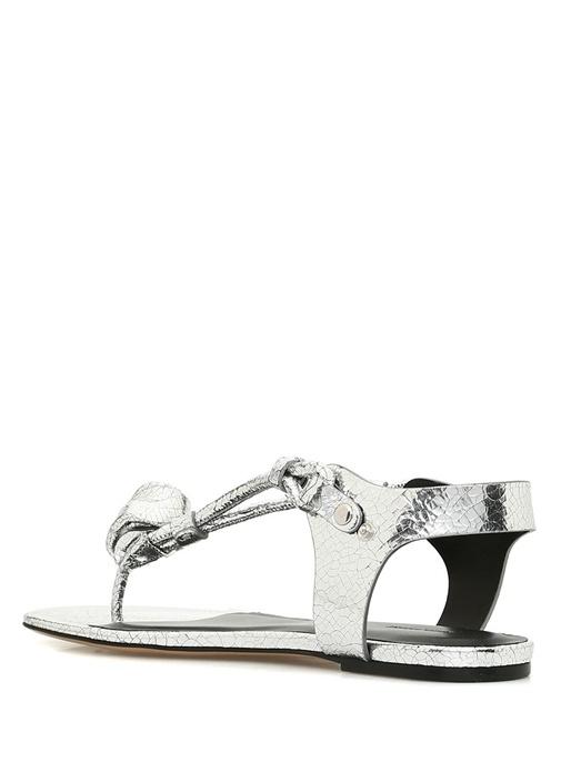 Jarley Silver Kadın Deri Sandalet