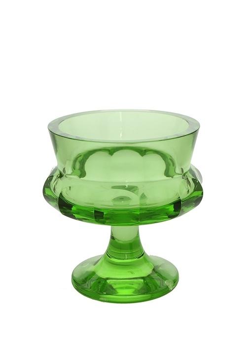 Yeşil Ayaklı Kristal Dekoratif Kase