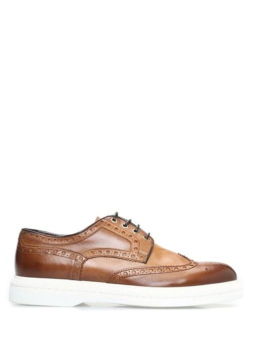 Santoni Kahverengi ERKEK  Kahverengi Desenli Delikli Deri Erkek Ayakkabı 477767 Beymen