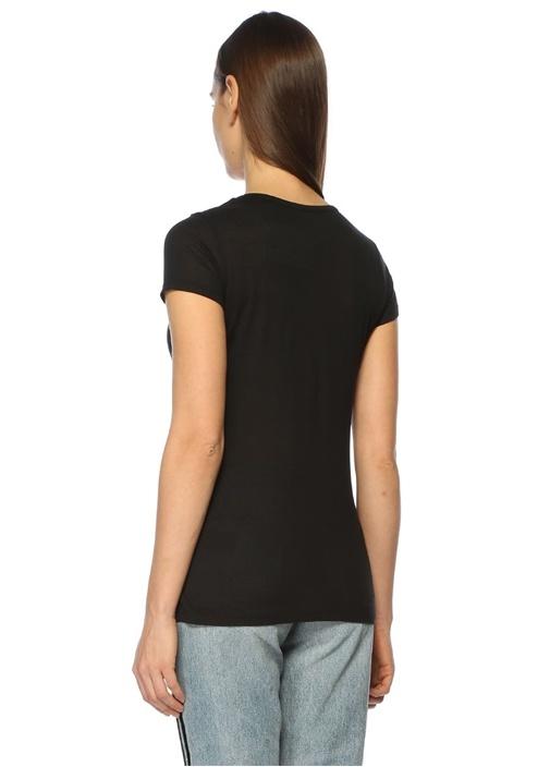 Malin Siyah V Yaka Tshirt