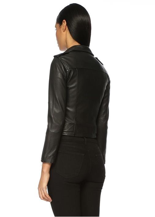Balfern Siyah Deri Ceket
