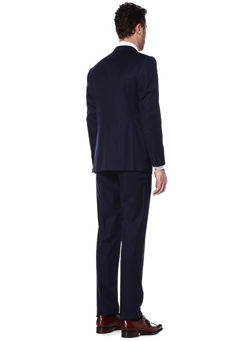 Lacivert Kelebek Yaka Yün Takım Elbise