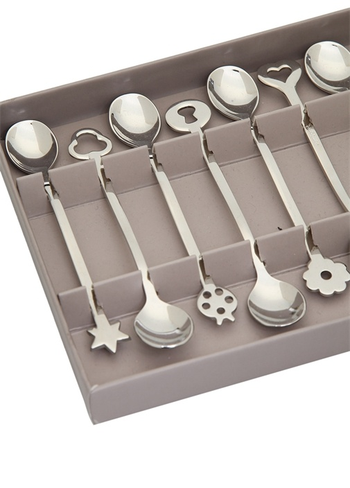 Portafortuna Silver 12li Metal Kaşık Seti