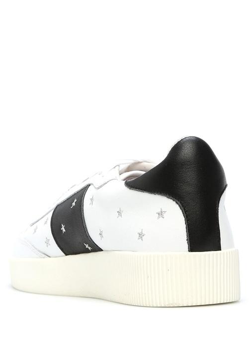 Aurora Lacivert-Beyaz Deri Kadın Sneaker