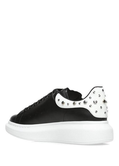 Oversized Deri Siyah Erkek Sneaker
