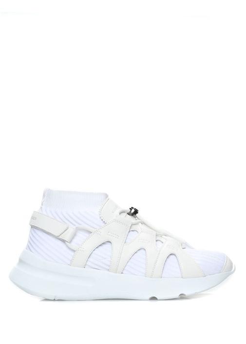 Alexander McQueen Beyaz ERKEK  Beyaz Çorap Formlu Erkek Deri Sneaker 473058 Beymen